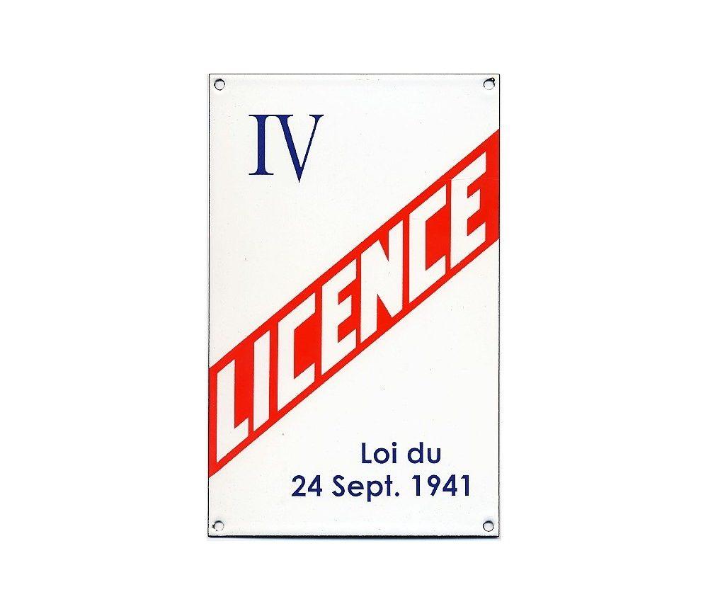 saisie de licence IV
