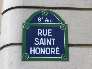 Huissier rue Saint Honoré